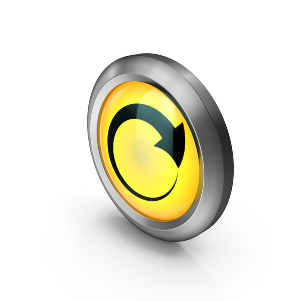 Yellow Round Arrow Symbol PNG & PSD Images