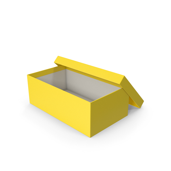 Yellow Shoe Box Opened PNG & PSD Images