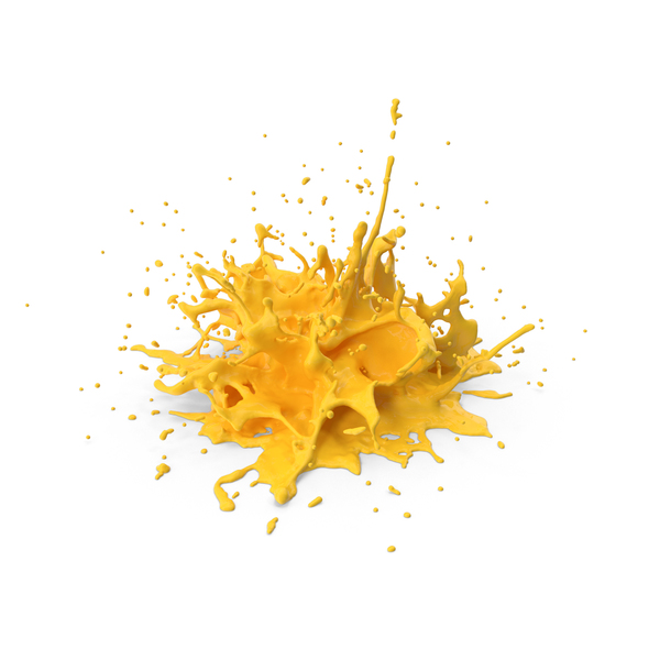 Yellow Splash PNG & PSD Images