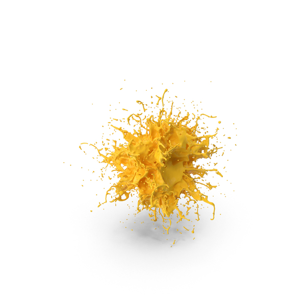 Yellow Splatter PNG & PSD Images