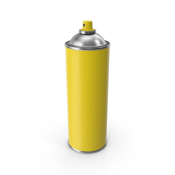 Yellow Spray Can No Cap PNG & PSD Images