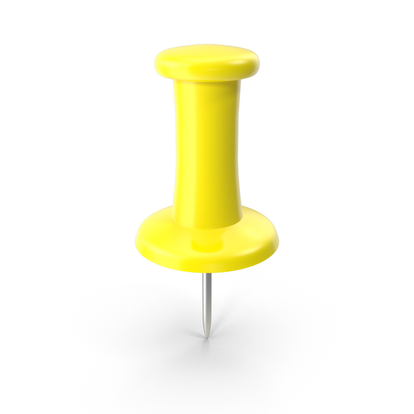 Yellow Thumbtack Object