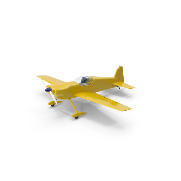 Yellow Toy Sport Plane PNG & PSD Images