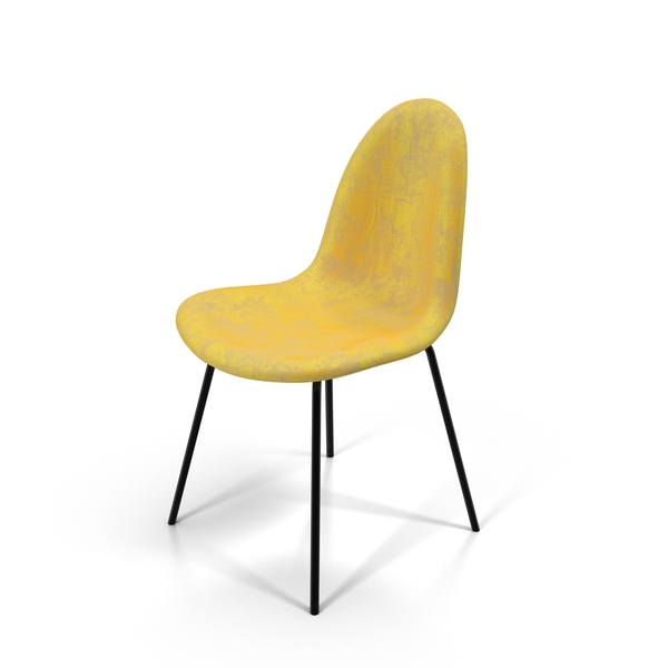 Yellow Velvet Chair Object