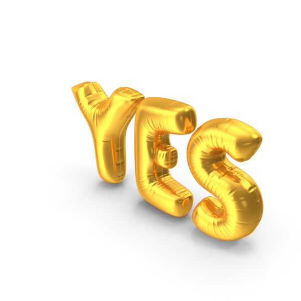Yes Balloons PNG & PSD Images