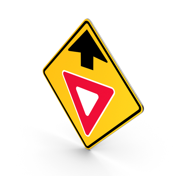 Yield Ahead Traffic Control Road Sign PNG & PSD Images