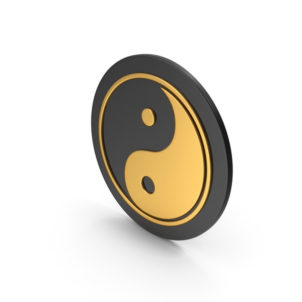Yin Yang Gold Icon PNG & PSD Images