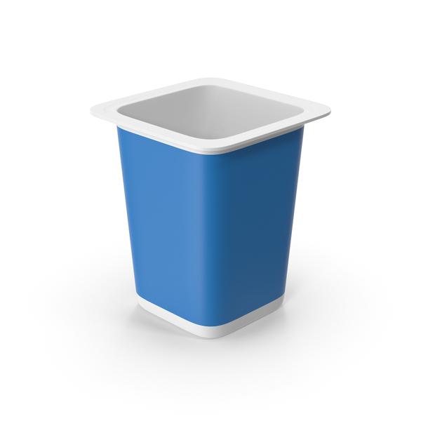 Yogurt Cup Blue Empty PNG & PSD Images