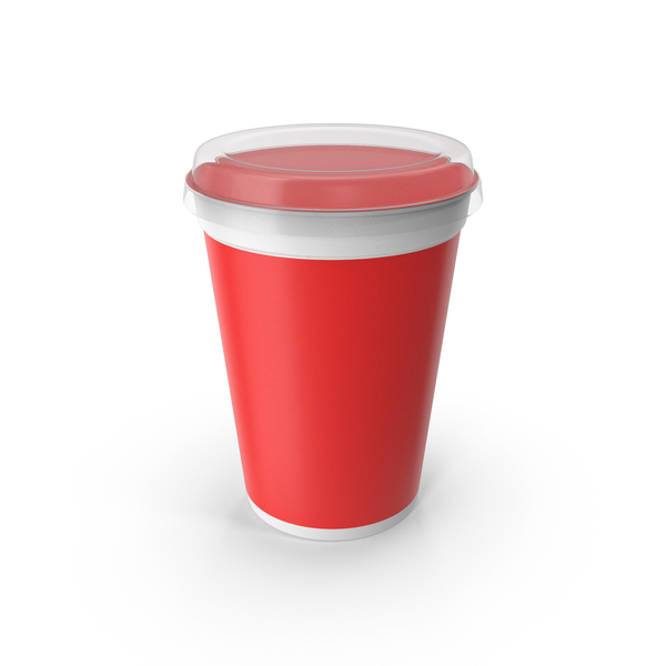 Yogurt Cup Red PNG & PSD Images