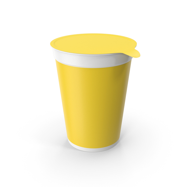 Yogurt Cup Yellow PNG & PSD Images