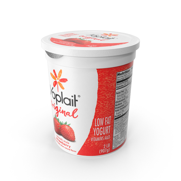 Yoplait Original Strawberry PNG & PSD Images