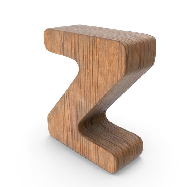 Z Wooden Letter PNG & PSD Images