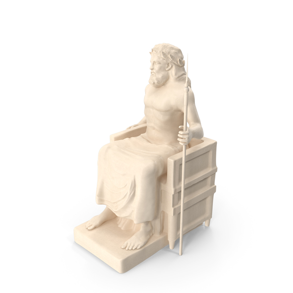 Zeus Seated Statue PNG & PSD Images