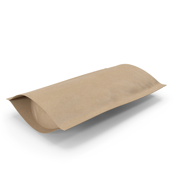 Zipper Kraft Paper Bag 150 g Open PNG & PSD Images