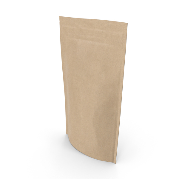 Zipper Kraft Paper Bag 180g PNG & PSD Images