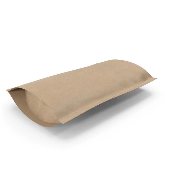 Zipper Kraft Paper Bag 200 g Open PNG & PSD Images