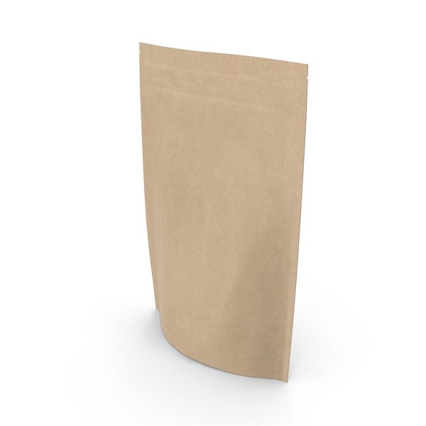 Zipper Kraft Paper Bag 220 g PNG & PSD Images