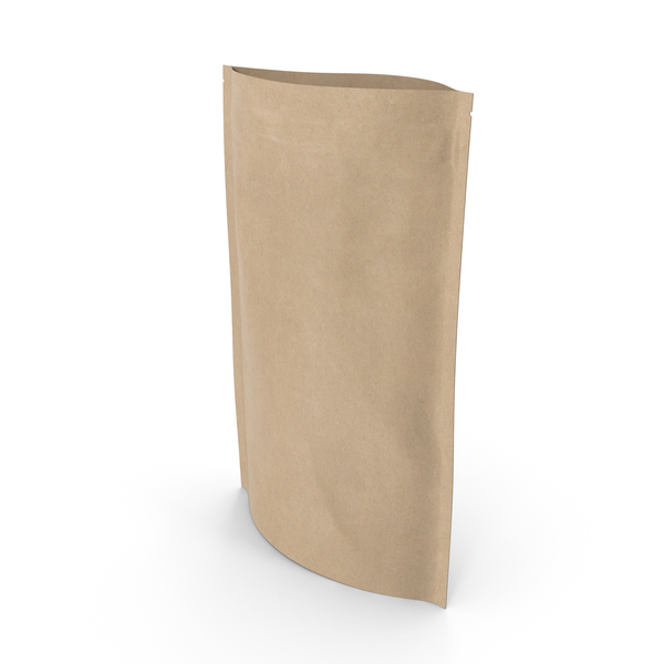 Food Container: Zipper Kraft Paper Bag 220 g Open PNG & PSD Images