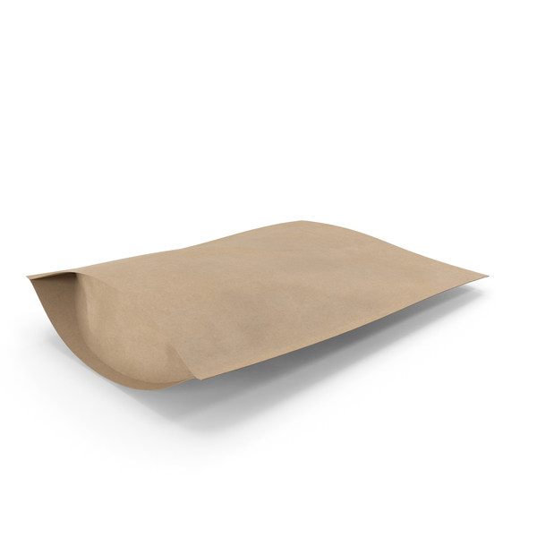 Zipper Kraft Paper Bag 300g PNG & PSD Images
