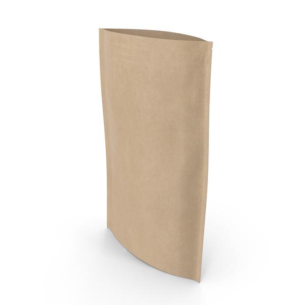 Zipper Kraft Paper Bag 400 g Open PNG & PSD Images