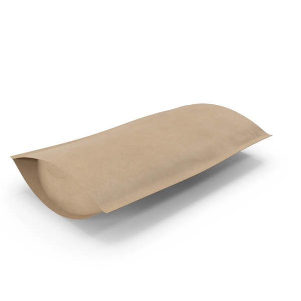 Zipper Kraft Paper Bag 400 g Open PNG & PSD Images