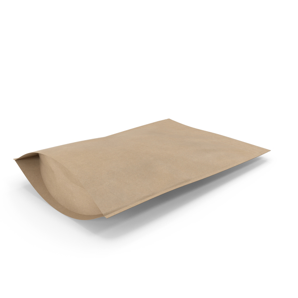 Zipper Kraft Paper Bag 400g PNG & PSD Images
