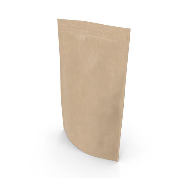 Zipper Kraft Paper Bag 500g PNG & PSD Images