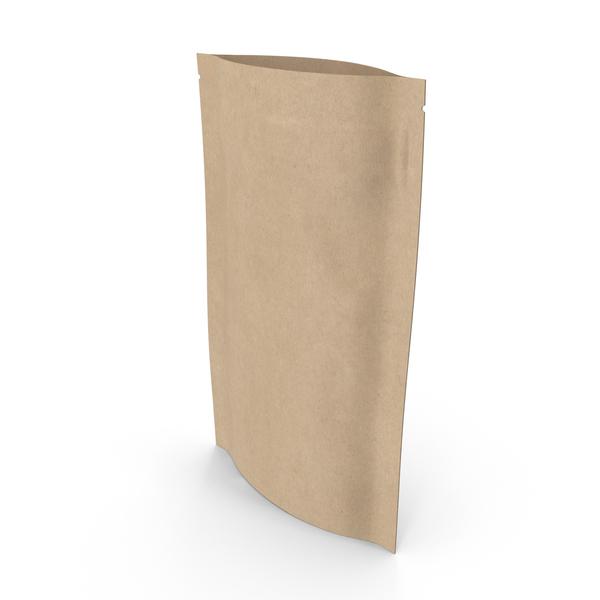 Zipper Kraft Paper Bag 50g Open PNG & PSD Images