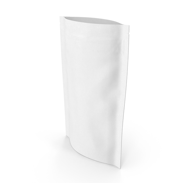 Zipper White Paper Bag 150 g Open PNG & PSD Images