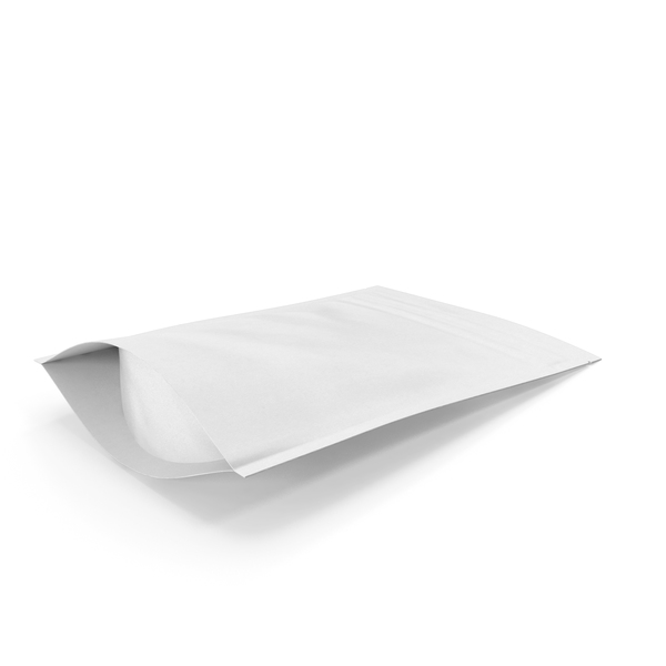 Zipper White Paper Bag 150g PNG & PSD Images