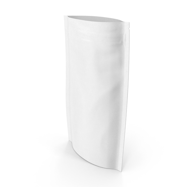 Food Container: Zipper White Paper Bag 180 g Open PNG & PSD Images