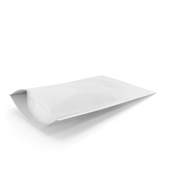 Zipper White Paper Bag 180g PNG & PSD Images