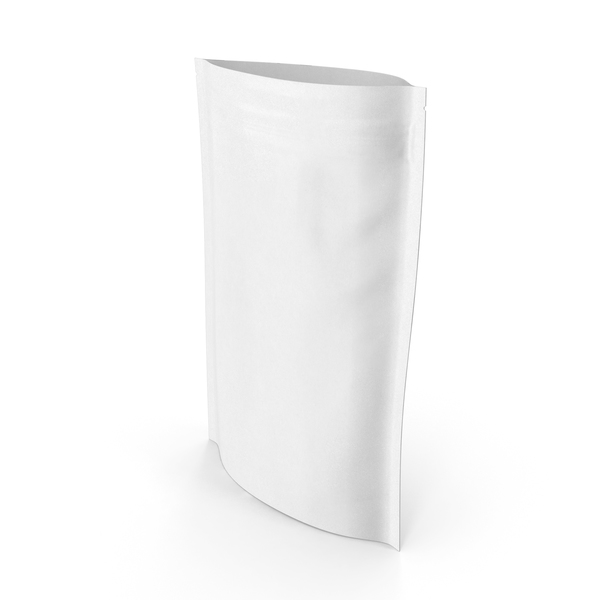 Food Container: Zipper White Paper Bag 200 g Open PNG & PSD Images