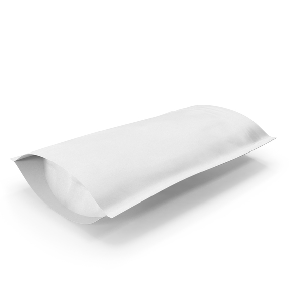 Takeaway Food Container: Zipper White Paper Bag 200 g Open PNG & PSD Images