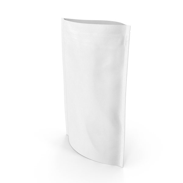 Food Container: Zipper White Paper Bag 220 g Open PNG & PSD Images