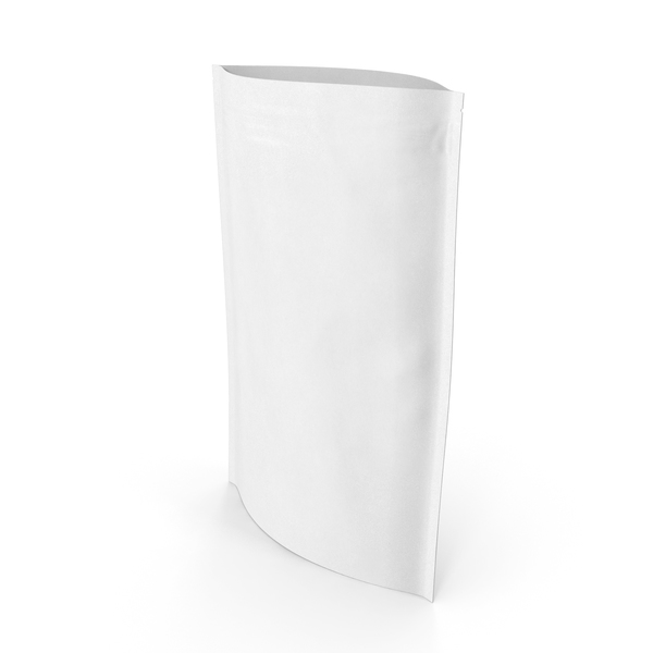 Food Container: Zipper White Paper Bag 300 g Open PNG & PSD Images