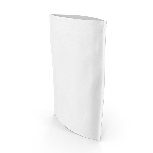 Zipper White Paper Bag 400 g Open PNG & PSD Images