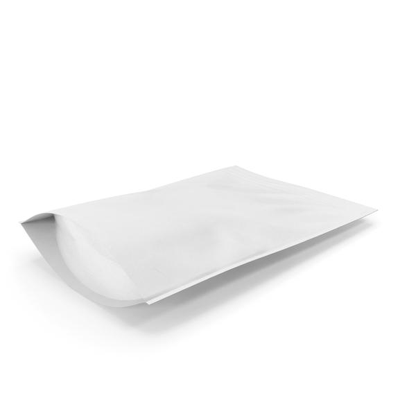 Zipper White Paper Bag 400g PNG & PSD Images