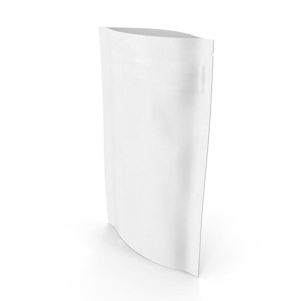 Zipper White Paper Bag 50 g Open PNG & PSD Images