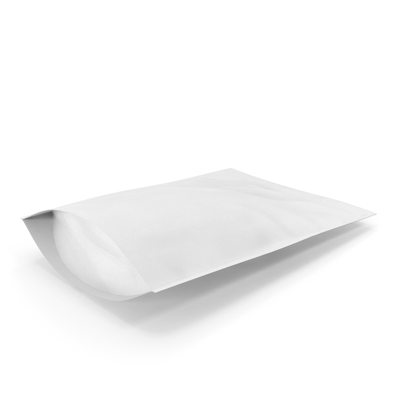 Zipper White Paper Bag 500g PNG & PSD Images