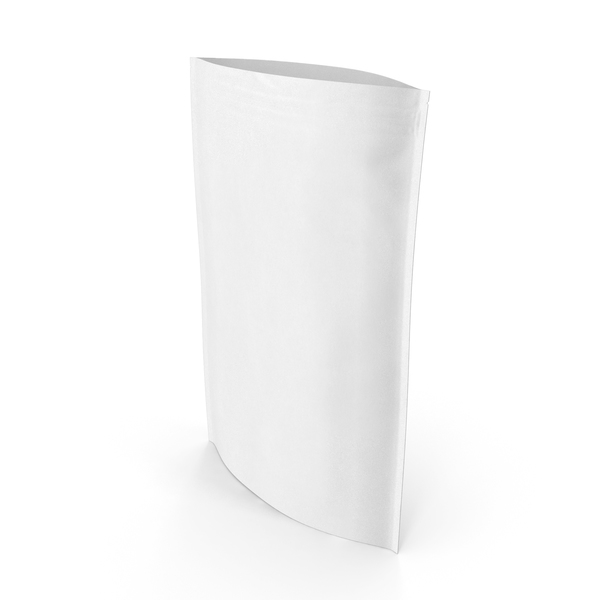 Zipper White Paper Bag 500g Open PNG & PSD Images