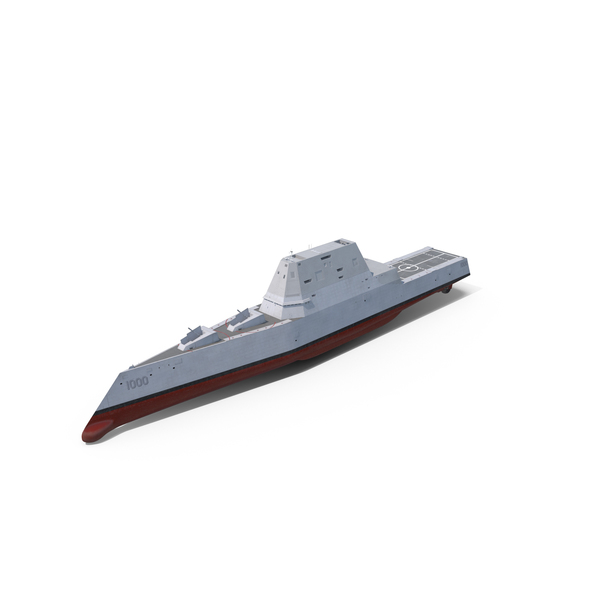 Zumwalt Class Destroyer US Stealth Ship Object