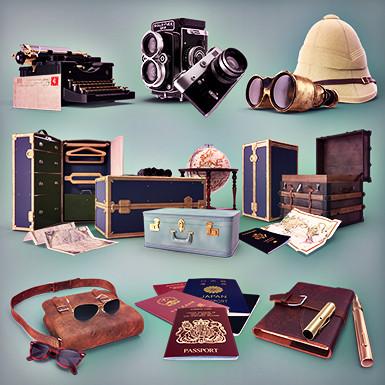 Retro Travel Collection
