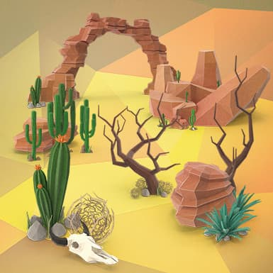 Low Poly Desert Collection