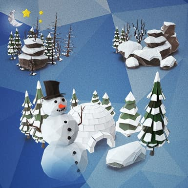 Low Poly Winter Collection