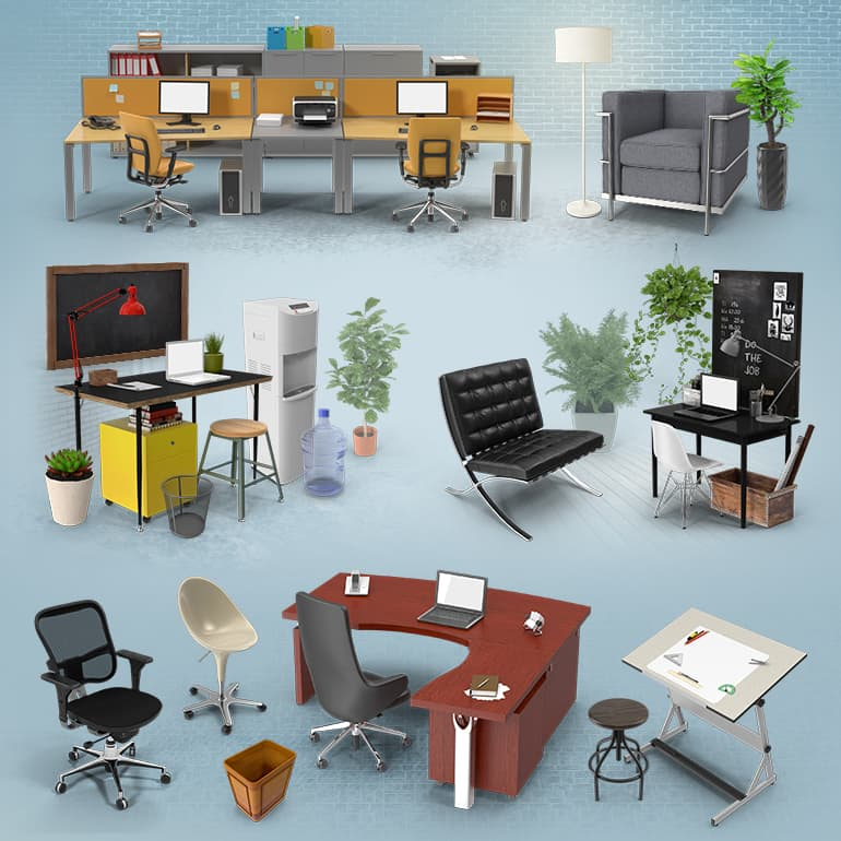 Office Collections: Office Furniture Collection PNG Images & PSDs For Download