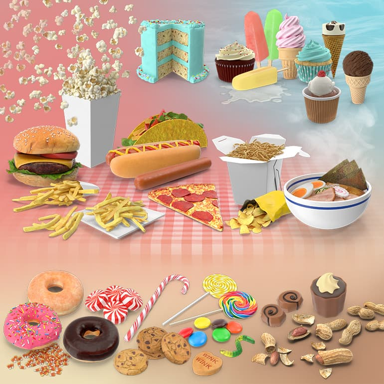 Junk Food Collection PNG Images & PSDs for Download | PixelSquid