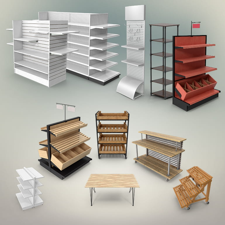 Retail Shelving Collection