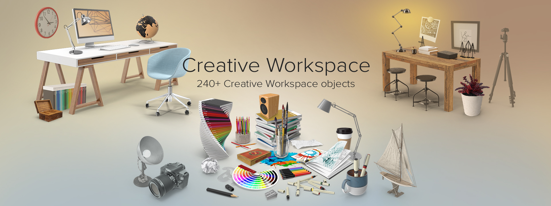 Creative Workspace Collection Png Images Psds For